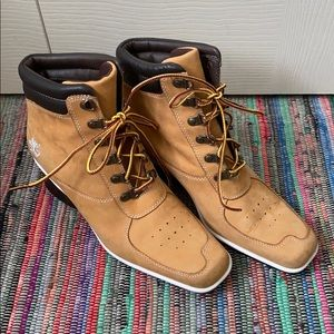 Timberland wedge square toe boot